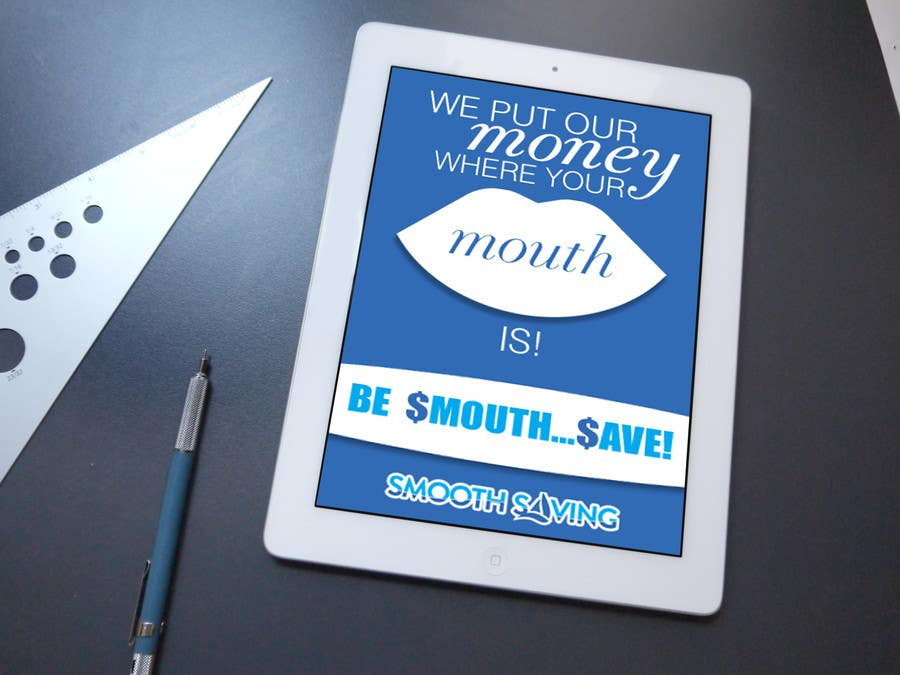 """Konkurrenceindlæg #                                        12                                      for                                         Design a postcard with theme """"We put our money where your mouth is!"""""""