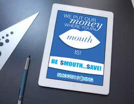 "#12 untuk Design a postcard with theme ""We put our money where your mouth is!"" oleh eirinigj"
