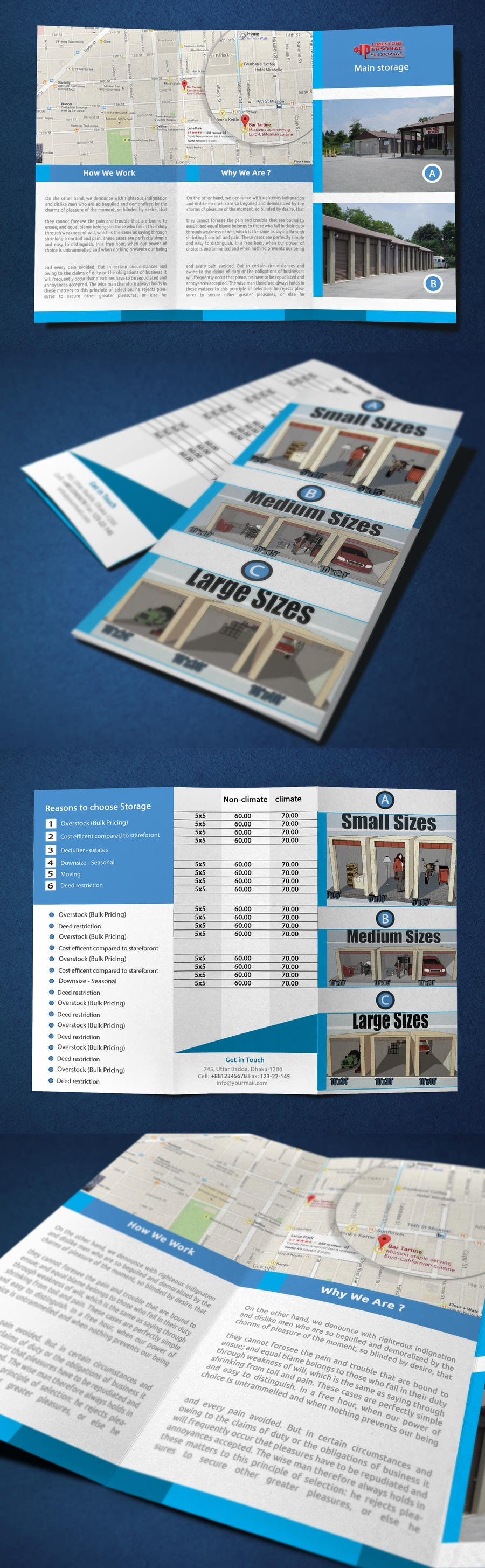 Contest Entry #                                        1                                      for                                         Design a Tr-Fold Brochure for Storage Company