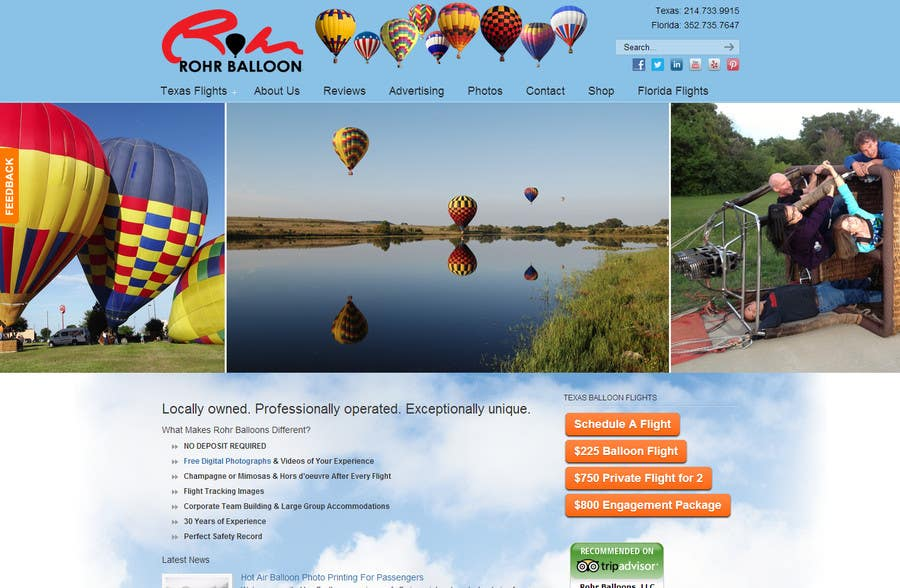 Konkurrenceindlæg #                                        5                                      for                                         Webdesign for website about balloon flights