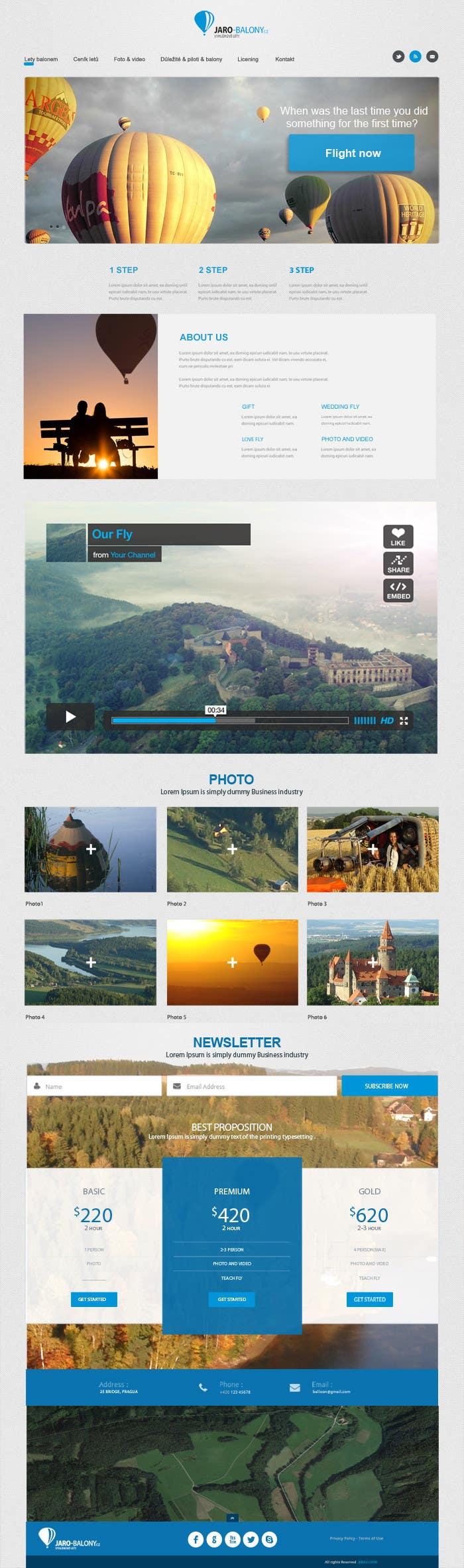 Konkurrenceindlæg #                                        3                                      for                                         Webdesign for website about balloon flights