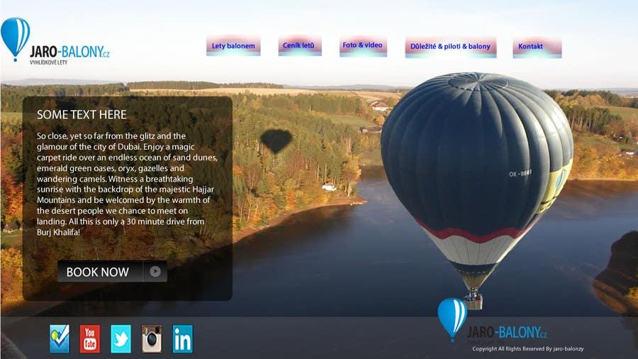 Inscrição nº 6 do Concurso para Webdesign for website about balloon flights