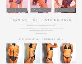 #4 for Design a Website Mockup for Lumé Swimwear af dani786