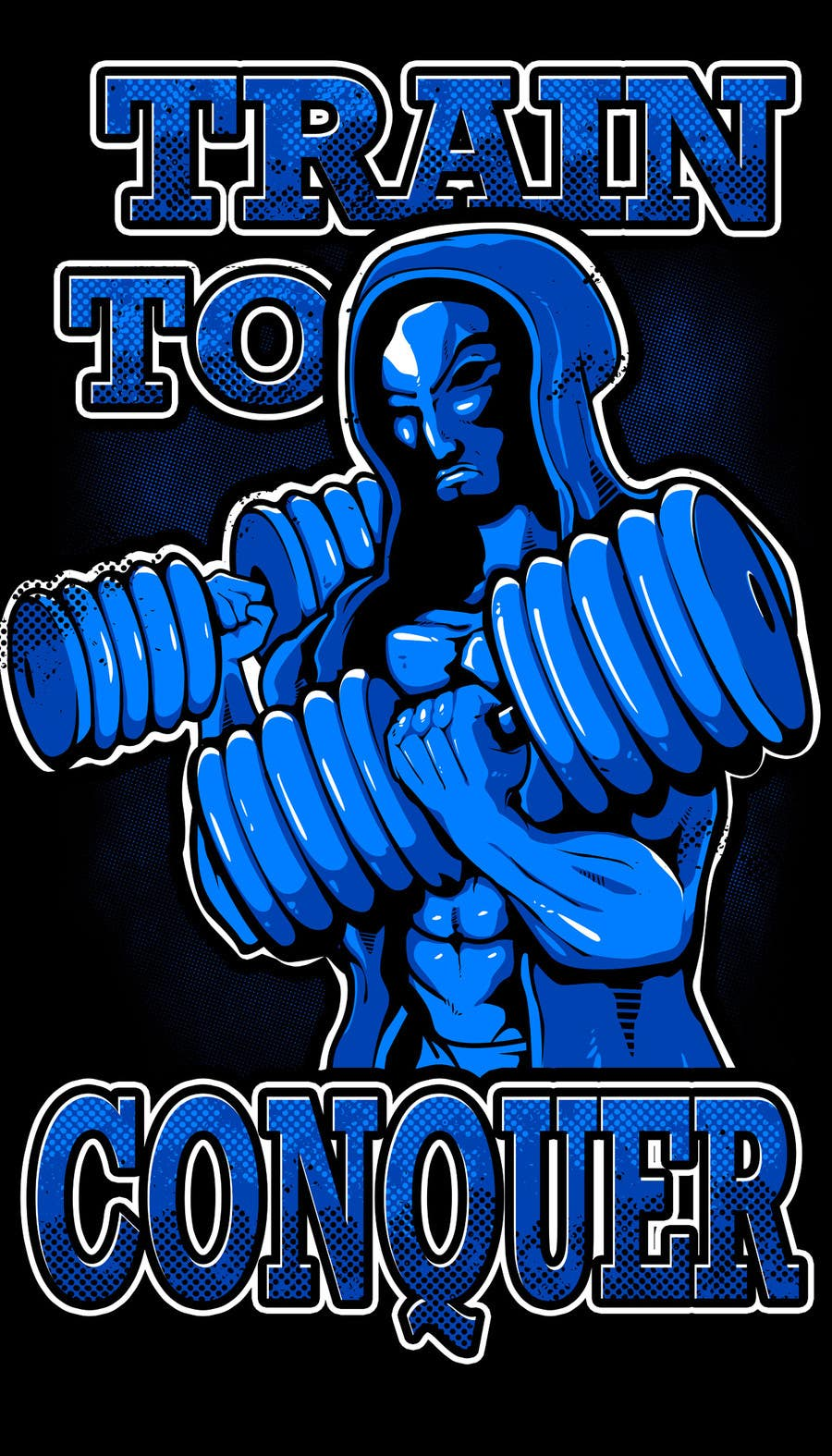 #51 for Need  a t-shirt design -- For Fitness, Weightlifting, Hardcore Training Apparel Company by bamz23