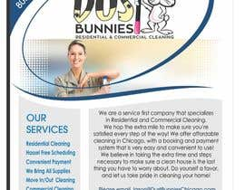 Nro 7 kilpailuun Picking winner today!  Design a Flyer for a Residential Cleaning Company - Dust Bunnies käyttäjältä milanlazic