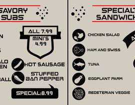 #13 para I need some Graphic Design for Hoagie Menu layout por rileymok