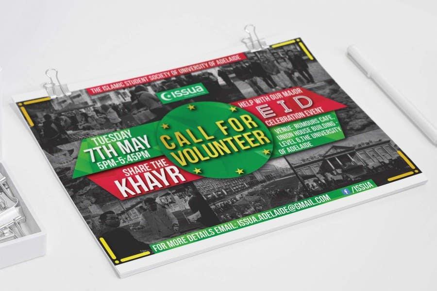 Penyertaan Peraduan #13 untuk 'Call for Volunteers' - Islamic Flyer