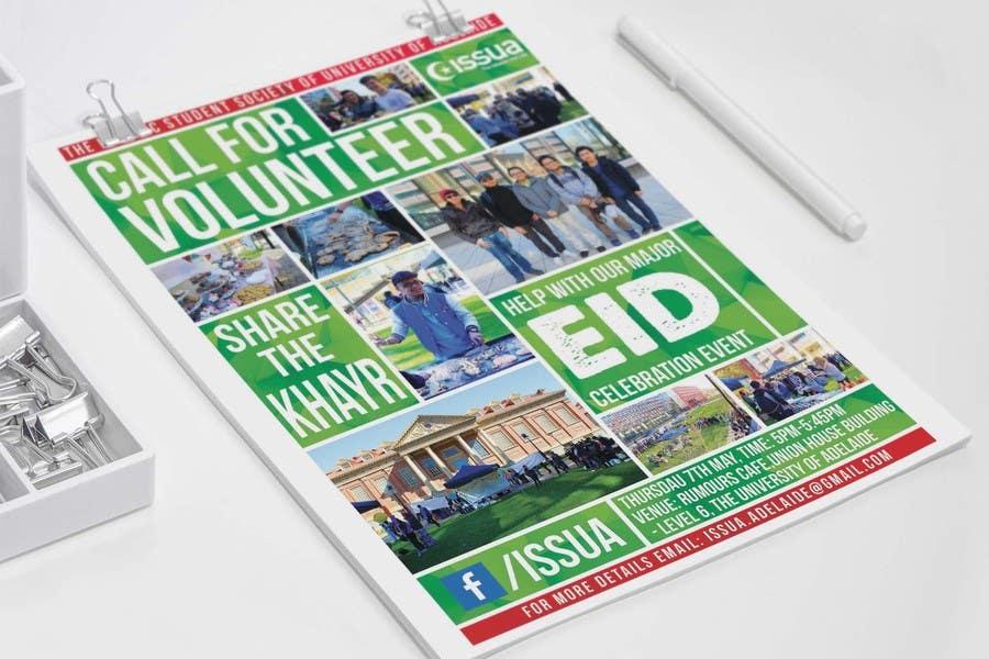 Penyertaan Peraduan #15 untuk 'Call for Volunteers' - Islamic Flyer