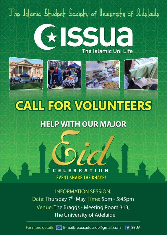 Penyertaan Peraduan #7 untuk 'Call for Volunteers' - Islamic Flyer