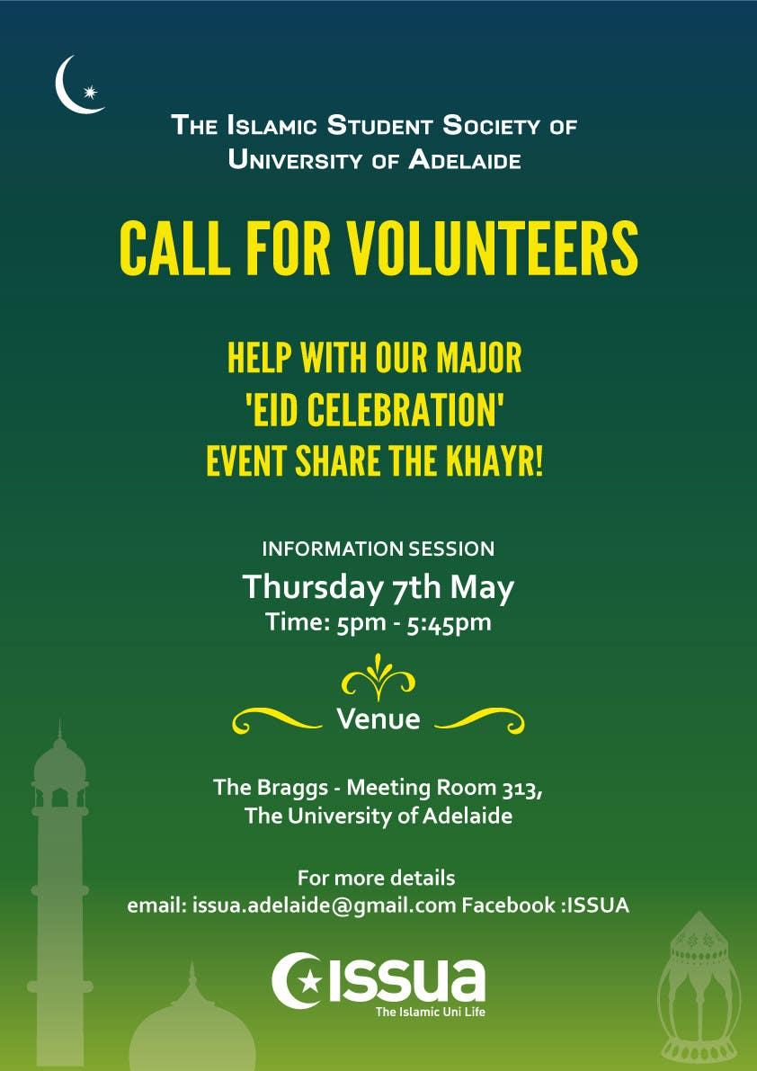 Penyertaan Peraduan #2 untuk 'Call for Volunteers' - Islamic Flyer