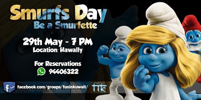 Konkurrenceindlæg #                                        13                                      for                                         Design a Banner for an Smurf Event