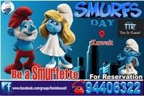Graphic Design Konkurrenceindlæg #9 for Design a Banner for an Smurf Event