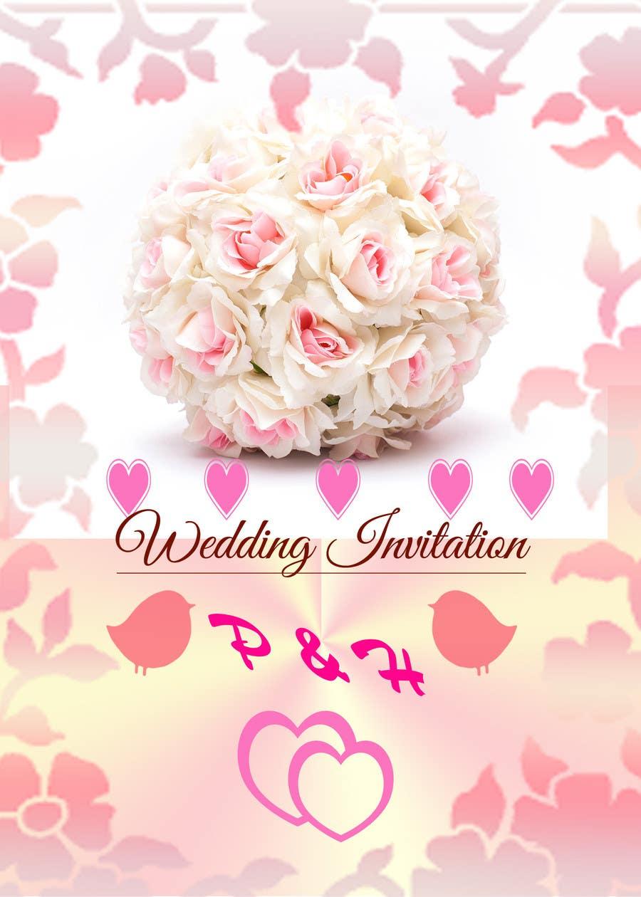 Konkurrenceindlæg #                                        12                                      for                                         Wedding Invitation design needed