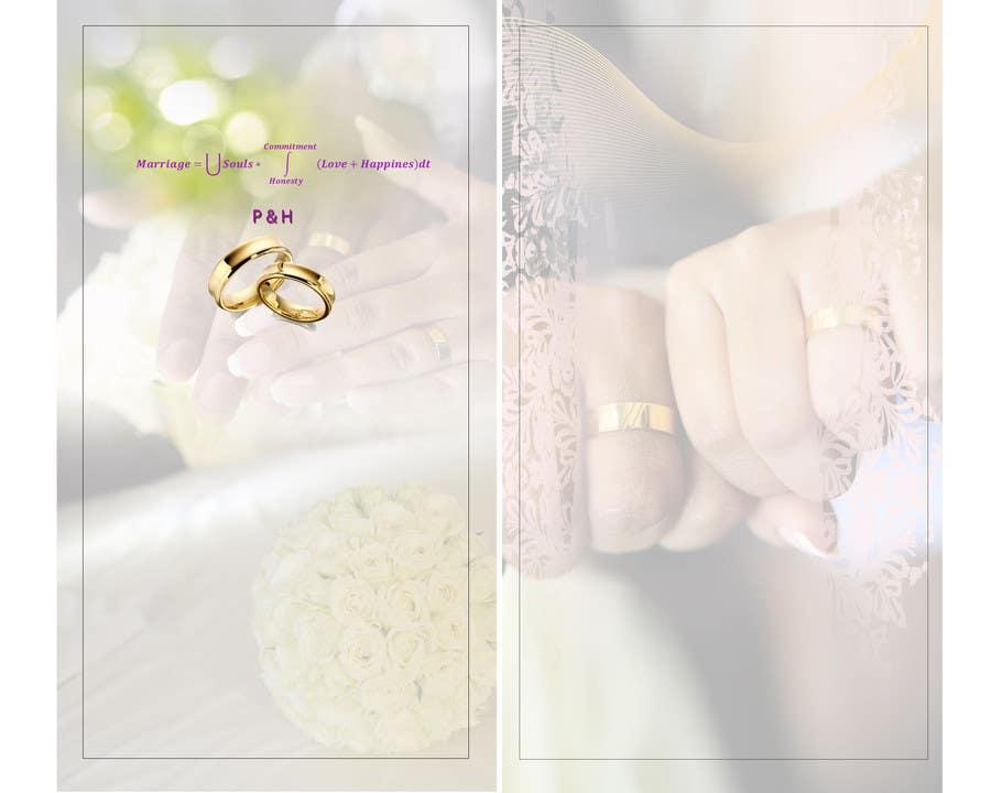 Konkurrenceindlæg #                                        4                                      for                                         Wedding Invitation design needed