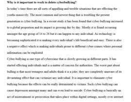 rajmaurya51 tarafından Cyberbullying Essay için no 5