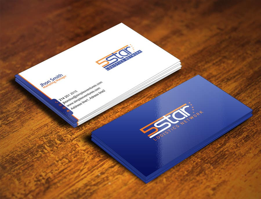 Entry #4 by gohardecent for Design some Business Cards for 5 Star ...