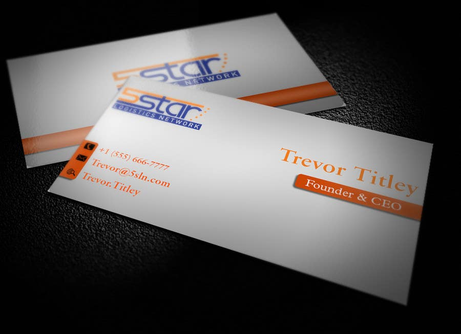 Contest Entry #                                        29                                      for                                         Design some Business Cards for 5 Star Logistics Network