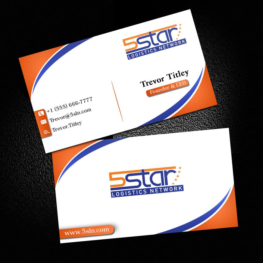 Contest Entry #                                        30                                      for                                         Design some Business Cards for 5 Star Logistics Network