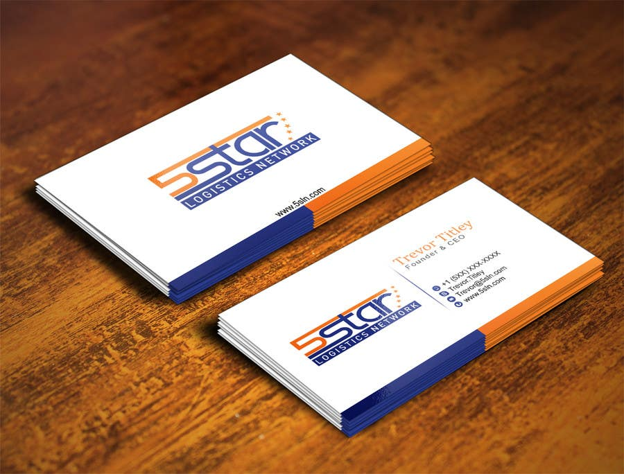 Contest Entry #                                        19                                      for                                         Design some Business Cards for 5 Star Logistics Network