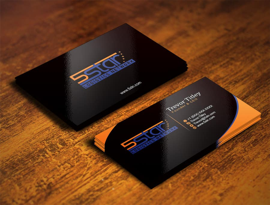 Contest Entry #                                        22                                      for                                         Design some Business Cards for 5 Star Logistics Network