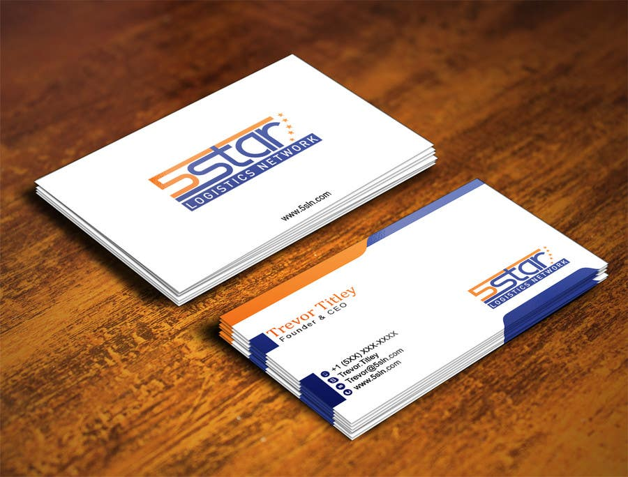 Contest Entry #                                        26                                      for                                         Design some Business Cards for 5 Star Logistics Network