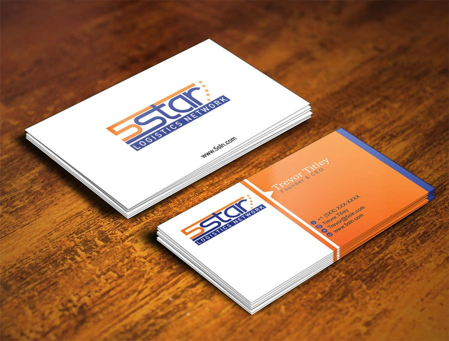 Contest Entry #                                        27                                      for                                         Design some Business Cards for 5 Star Logistics Network