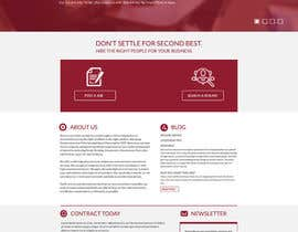 #24 untuk Design a Website Mockup for a Recruitment Company oleh adhikery