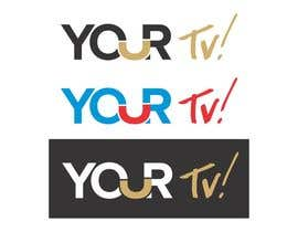 #2 para Design a logo using the word ( YOUR Tv! ) for my  new trivia Networl por screenprintart