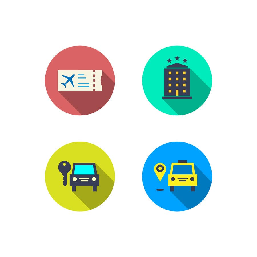Kilpailutyö #30 kilpailussa Design Icons for travel website