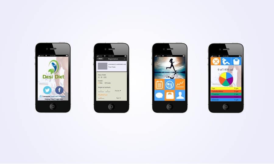 Proposition n°                                        79                                      du concours                                         Design an App Mockup for DesiDiet