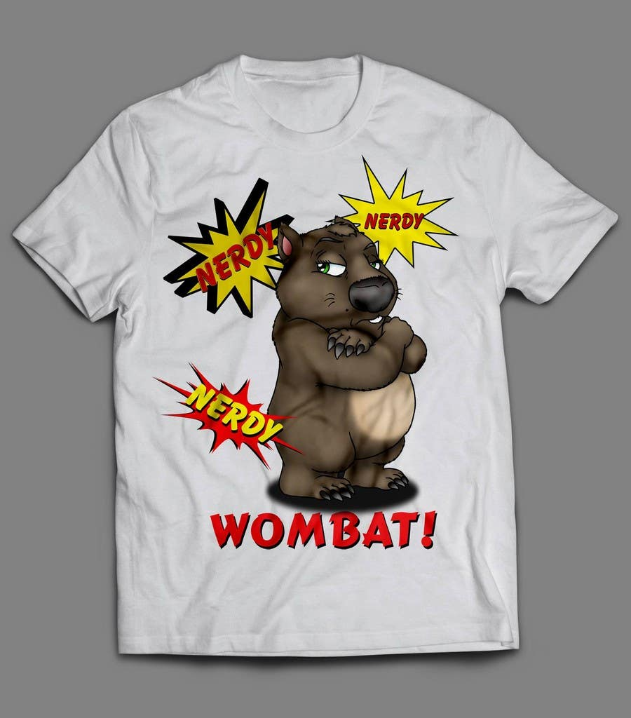 Konkurrenceindlæg #5 for Design Wombat T-Shirt