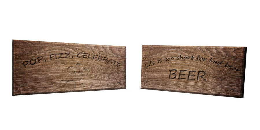 Proposition n°                                        2                                      du concours                                         Create 2 signs for laser cutting.