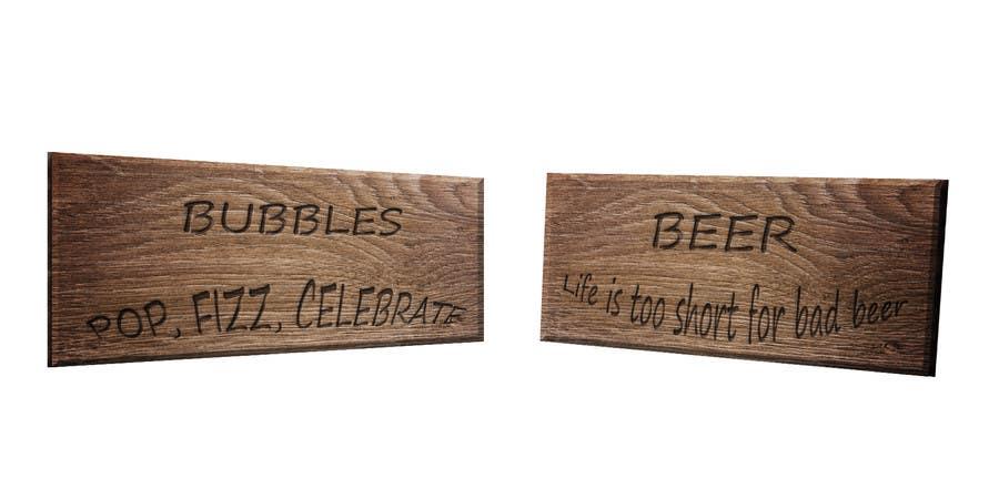 Inscrição nº 4 do Concurso para Create 2 signs for laser cutting.