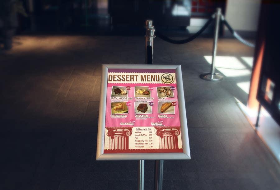 Konkurrenceindlæg #                                        3                                      for                                         Design a Dessert Menu for Mykonos Greek Restautant