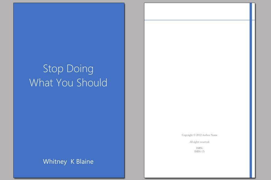 Inscrição nº 7 do Concurso para Design Layout for Interior of Book (Microsoft Word Template or PDF)