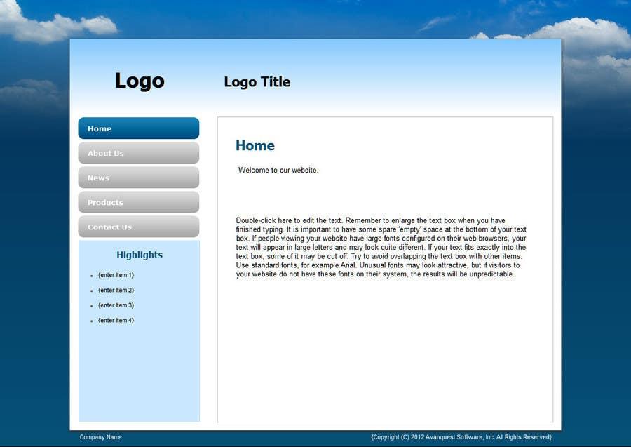 Konkurrenceindlæg #                                        6                                      for                                         Provide Wordpress Templates