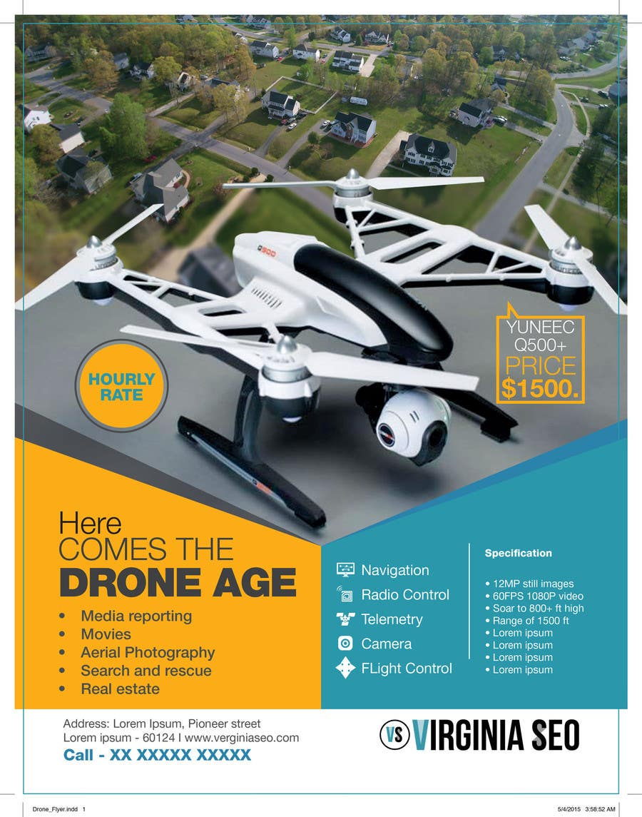 Contest Entry #                                        20                                      for                                         Design an Advertisement for Drone Work