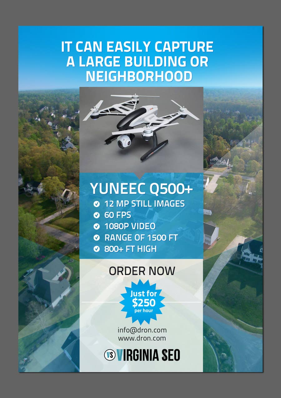 Contest Entry #                                        19                                      for                                         Design an Advertisement for Drone Work