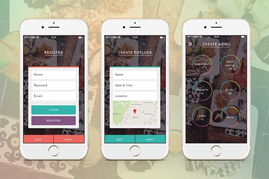 Konkurrenceindlæg #17 for Design an App Mockup for 'The Potluck Planner'