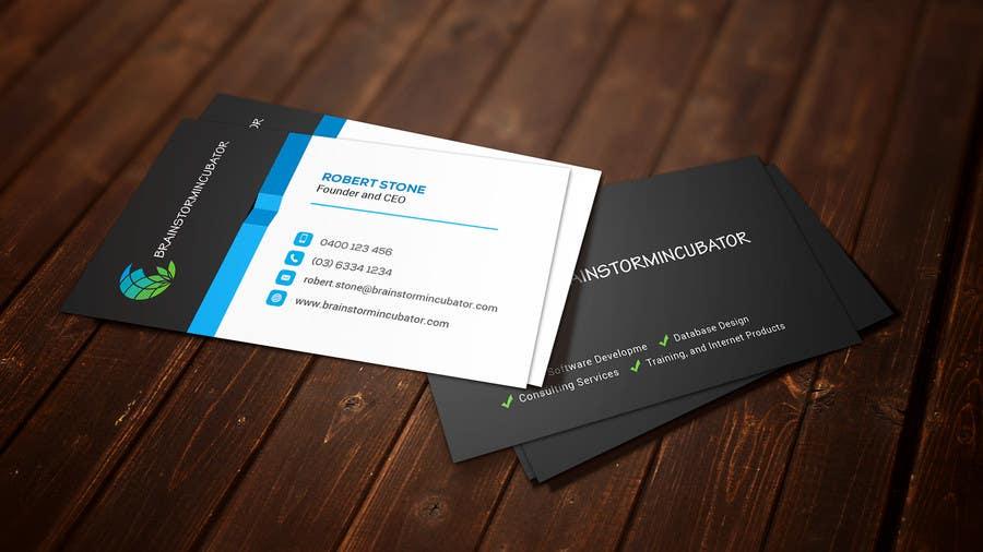 Inscrição nº 43 do Concurso para Design some Business Cards for BrainStorm Incubator