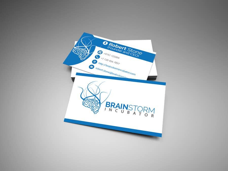 Inscrição nº 62 do Concurso para Design some Business Cards for BrainStorm Incubator