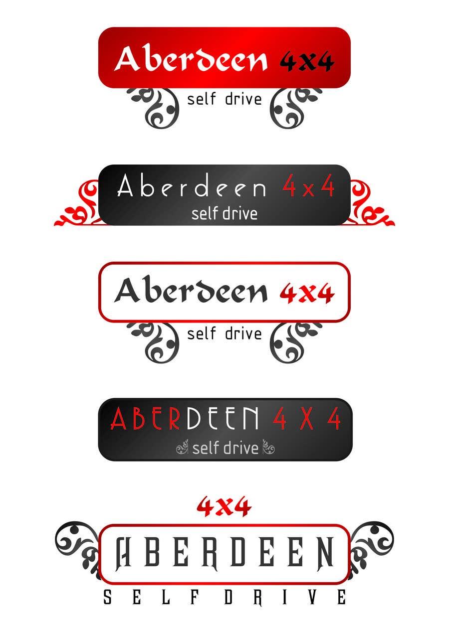 Proposition n°                                        23                                      du concours                                         Design a Logo for Aberdeen 4x4 Hire