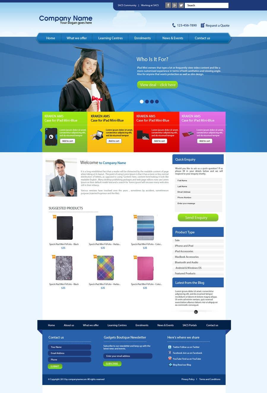 Inscrição nº                                         16                                      do Concurso para                                         Single page design for webpage