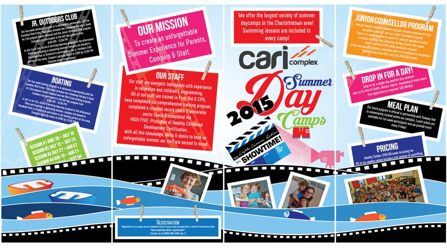 Contest Entry #35 for Design a Fun Daycamp brochure themed around 'SHOWTIME'