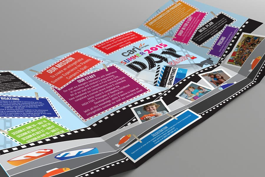 Contest Entry #36 for Design a Fun Daycamp brochure themed around 'SHOWTIME'