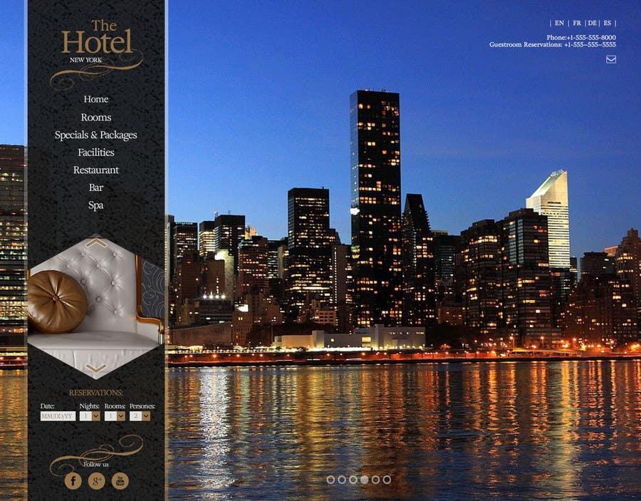 Konkurrenceindlæg #                                        23                                      for                                         Design a Website Mockup for Hotel