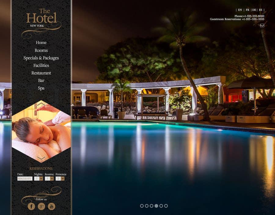 Konkurrenceindlæg #                                        24                                      for                                         Design a Website Mockup for Hotel