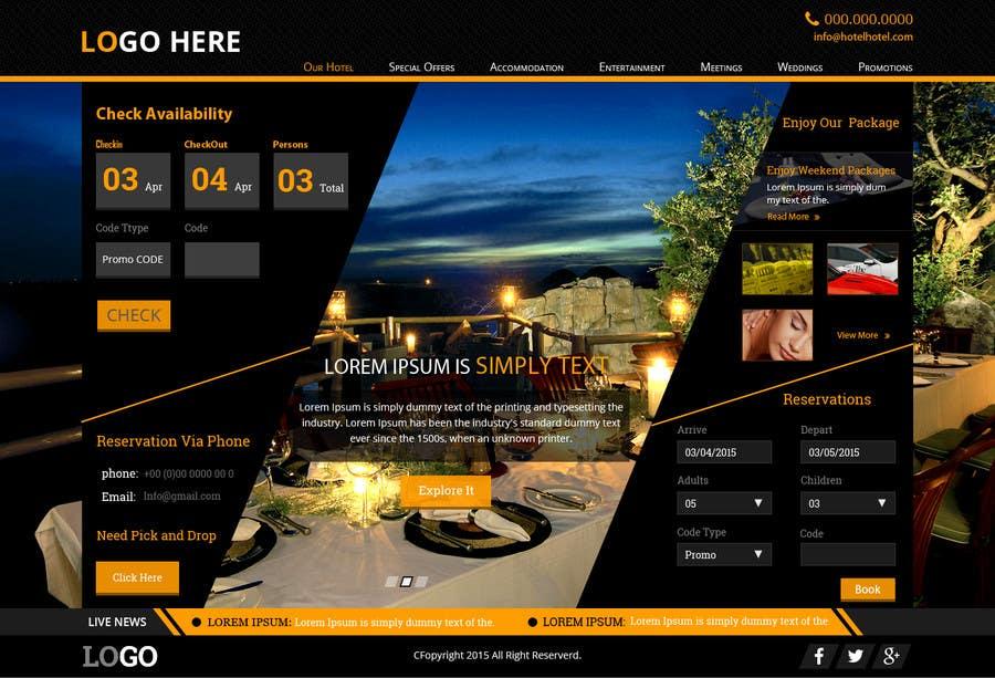 Konkurrenceindlæg #                                        17                                      for                                         Design a Website Mockup for Hotel