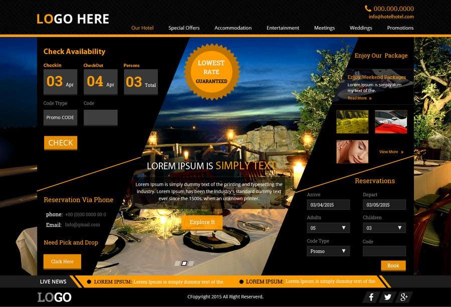 Konkurrenceindlæg #                                        41                                      for                                         Design a Website Mockup for Hotel