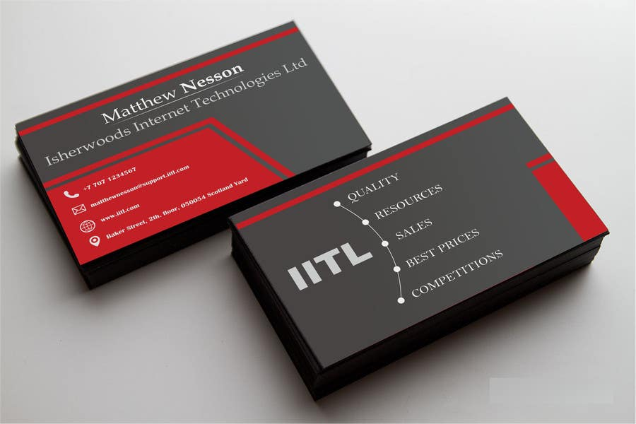 Entry #76 by wahyuguntara5 for Design some Business Cards for an IT ...